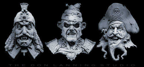 Vlad, Pinoccio and Blackbeard. by DonLanning