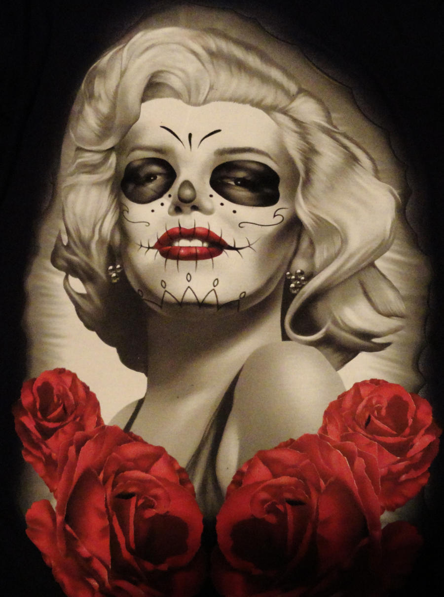 Death Mask Marilyn by deirocker