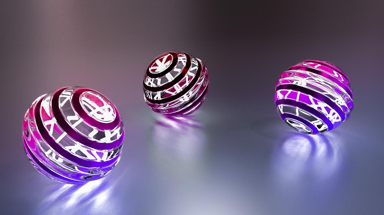 Glowing Balls 3 by AH-Kai