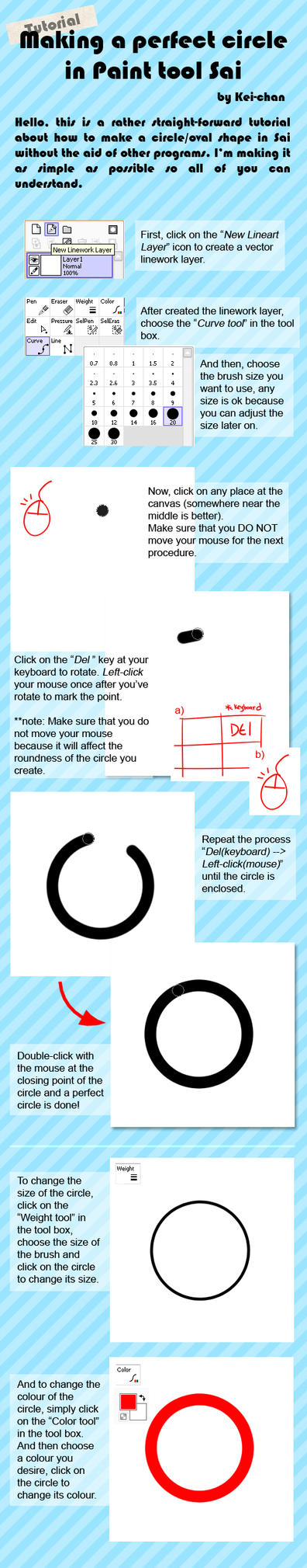 How to make circle in SAI by Keichan411