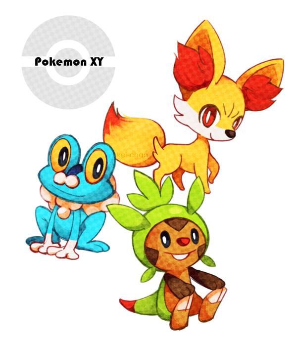 -Pokemon XY starters- by Keichan411