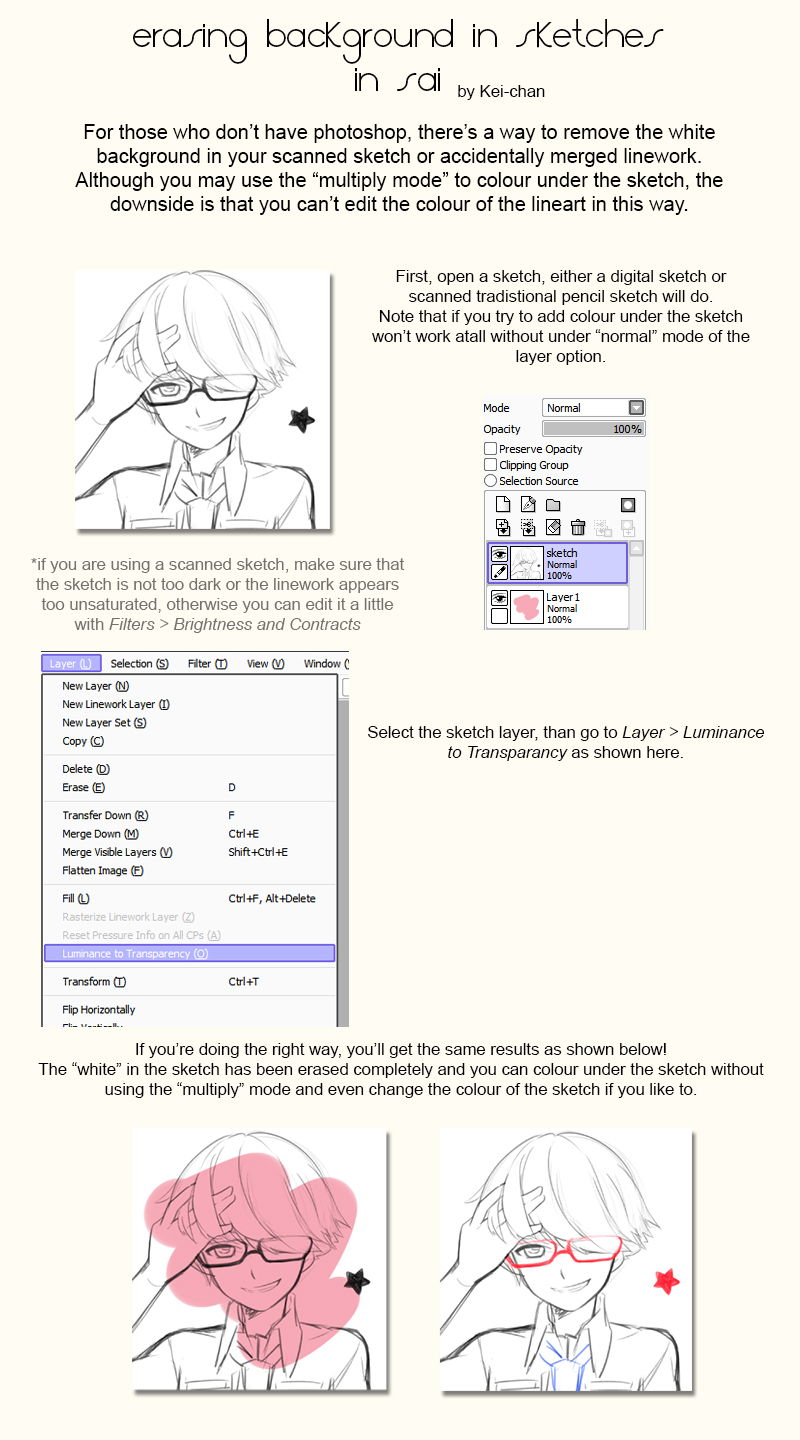 How To Extract Scanned Linework In Sai By Keichan411 On Deviantart