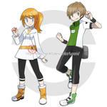 -PKMN trainer ocs- Rina and Tyler