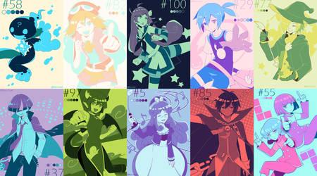 PuyoPuyo palette challenge by Keichan411
