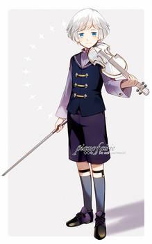 -Boy with a violin-