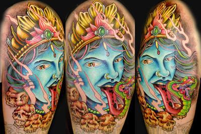 Kali Hindu Godess by natebeavers