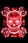 design rose skulls