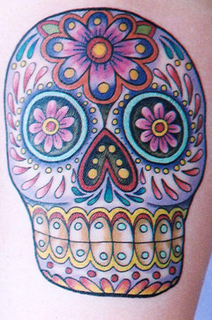 Skull Tattoo Designs Especially Sugar Skull Tattoo Gallery Pictures