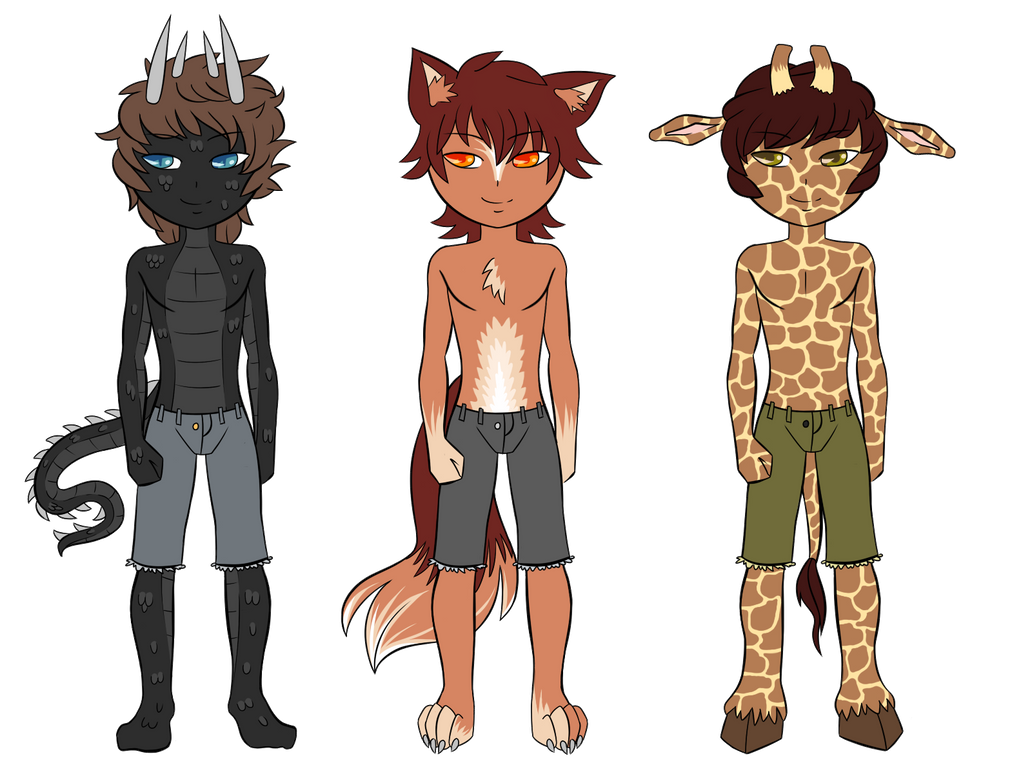 Raptilian, Wolf, Giraffe Furry by GTeam