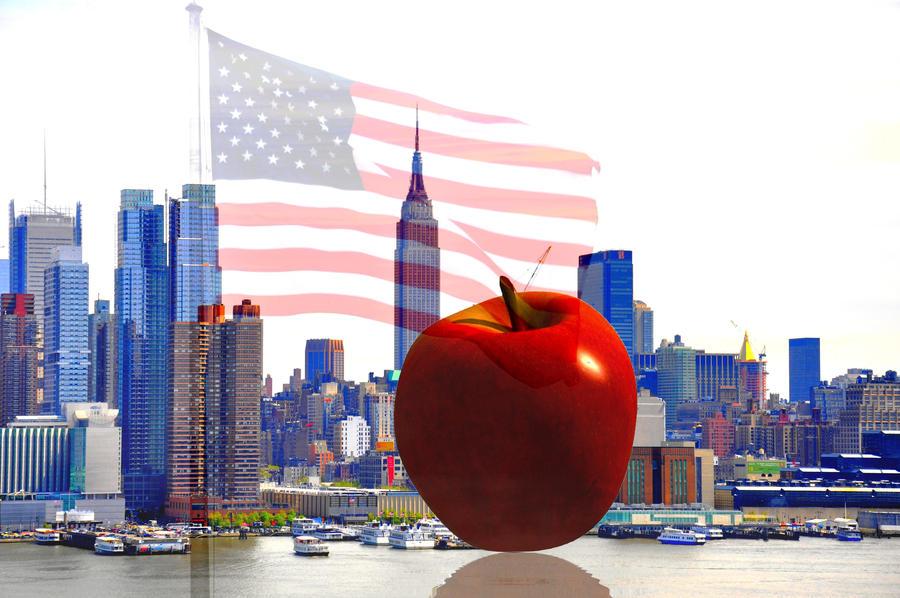 new york big apple by optilux on deviantart. Black Bedroom Furniture Sets. Home Design Ideas