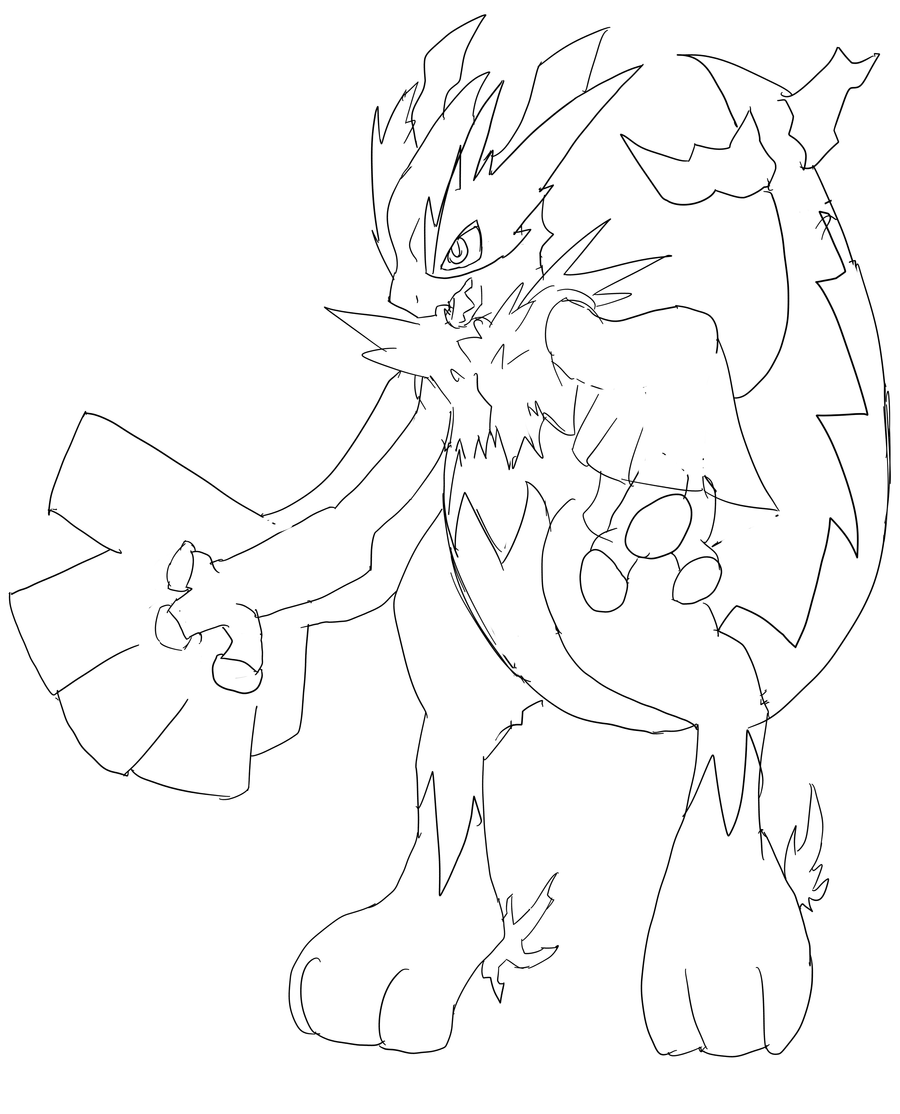 Shadow Lugia Coloring Pages - intellego