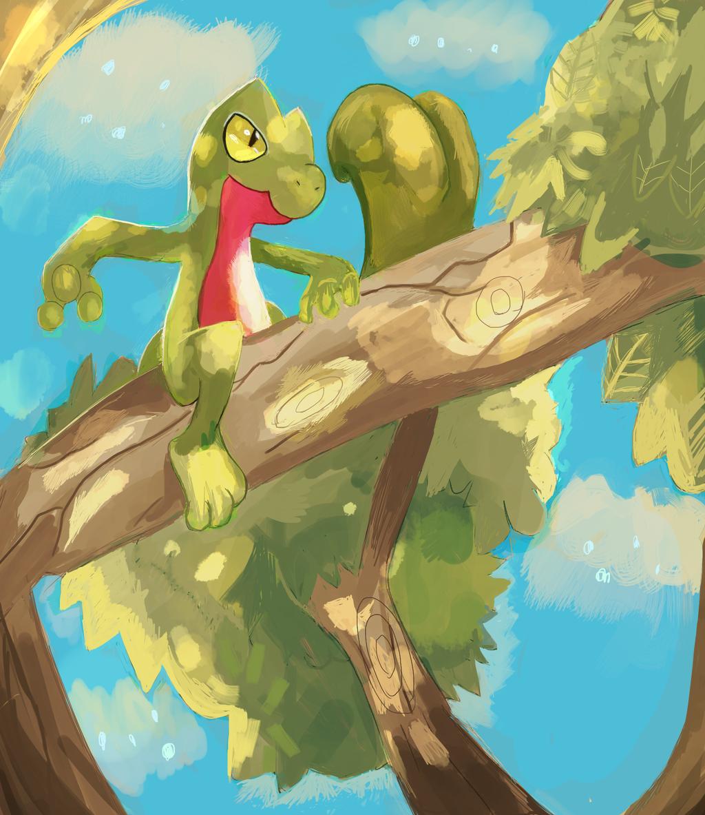 A wild Treecko by LizardonEievui13