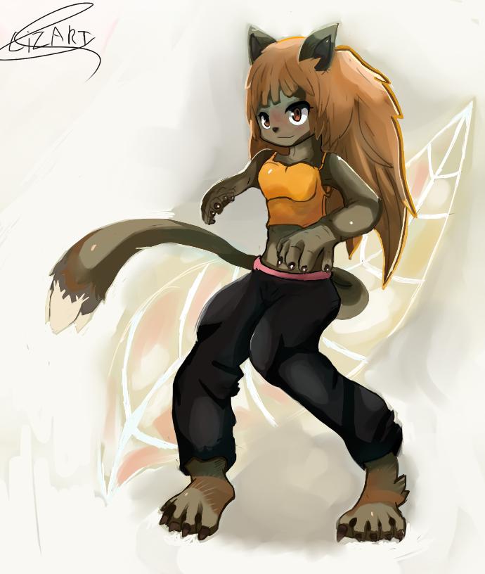 Lion Girl by LizardonEievui13