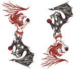 GothicLady+FireLady Tattoo