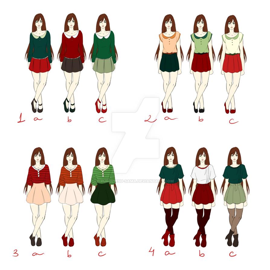 Outfits HALP by Purinsesu-sama