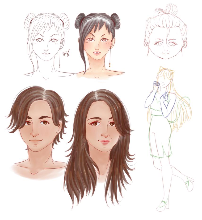 Sketches by Purinsesu-sama