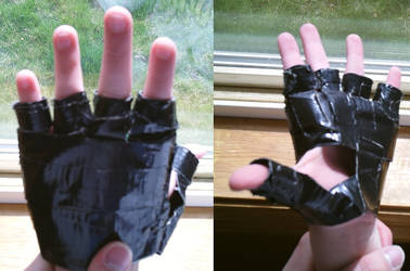 Old Duck Tape Gloves