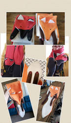 Fox Scarves Collage