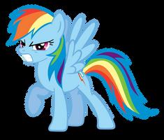 Rainbow Dash 'Grrr' Face by Rayne-Feather
