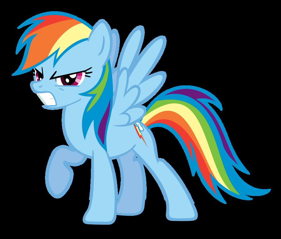 Rainbow Dash Mad