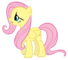 Fluttershy's 'eh' Face by Rayne-Feather
