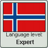 Norwegian Language Stamp Level Expert by Rayne-Feather