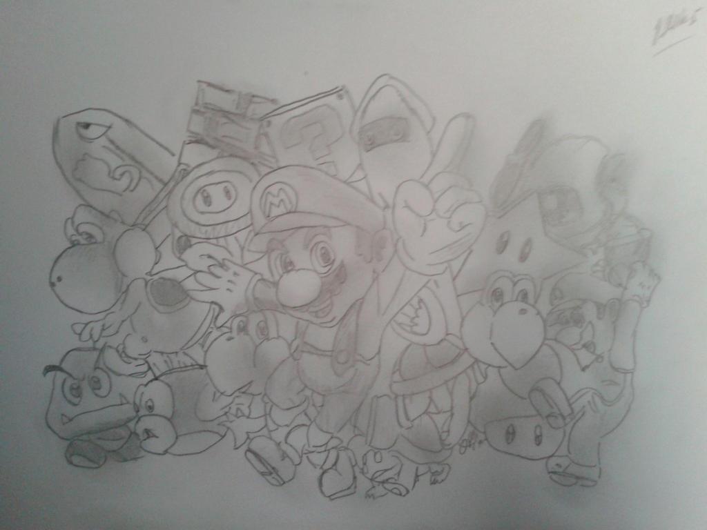 Mario Party Characters Pencil Drawing By Jadunsykes On Deviantart