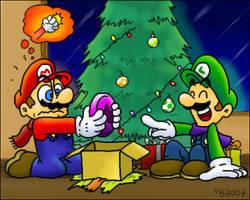 Luigi's purple coins by TheBourgyman