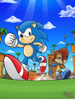 Race on Green Hill Zone