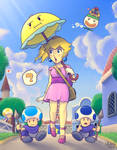 A stroll in Toad Town