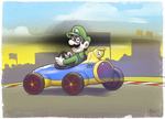 Luigi's Creepy Death Stare