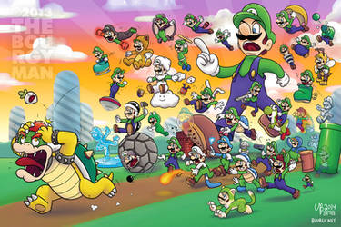33 Years of Power-Ups (Luigi version) by TheBourgyman