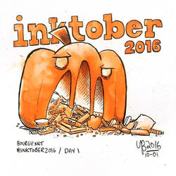 Bourgy's Inktober 2016, Day 1: Pumpkin by TheBourgyman