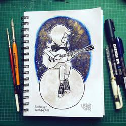 Inktober 2018 #1: Guitar Rosalina by TheBourgyman