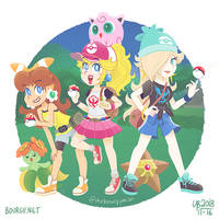 Pokemon Trainer Princesses by TheBourgyman