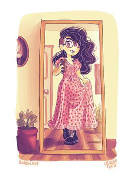 Yasmine and the Strawberry Dress