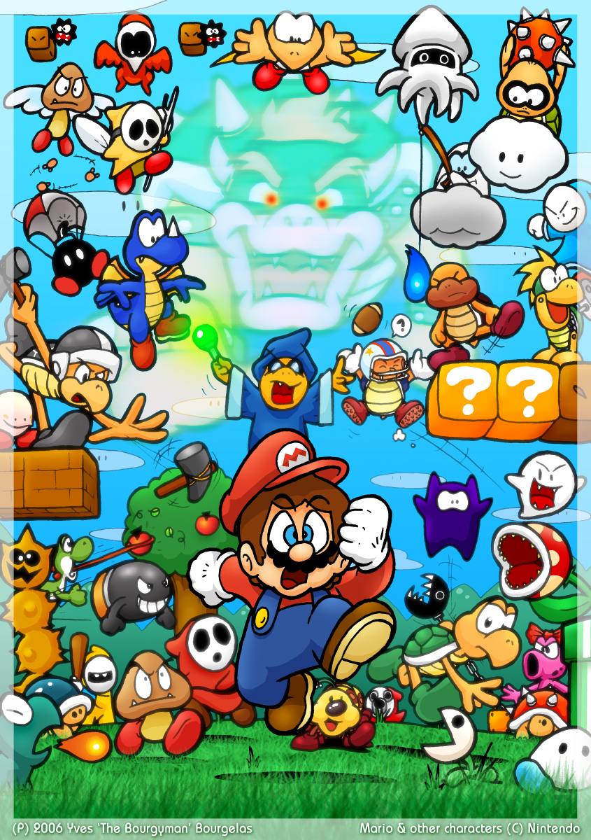 artwork super mario bros 2 enemies