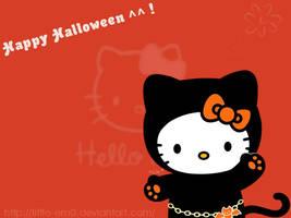 Happy Halloween Hello Kitty by little-em0