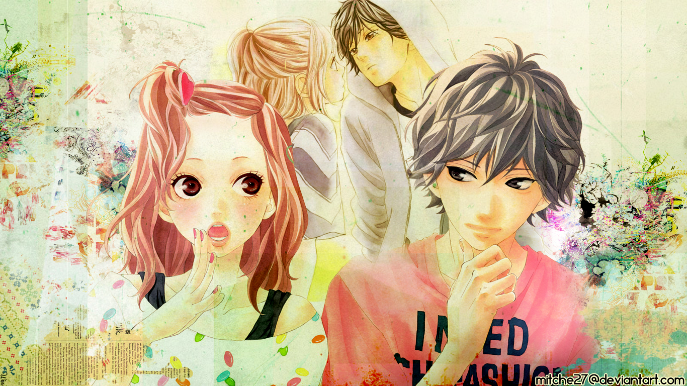 Ao Haru Ride wallpaper tribute by Mitche27
