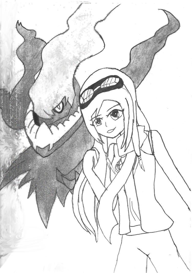 Selene and Darkrai by SumomoSushi
