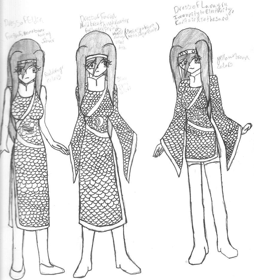 Dragon Dresses by SumomoSushi