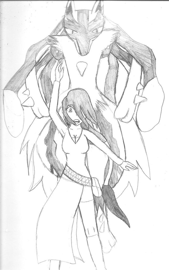 Ivory and Mega-Ginko by SumomoSushi