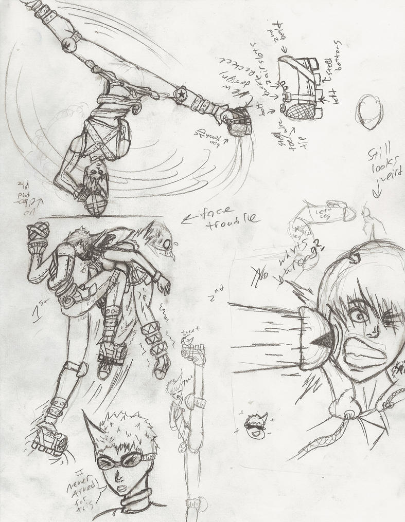 how to draw link in a fight sence