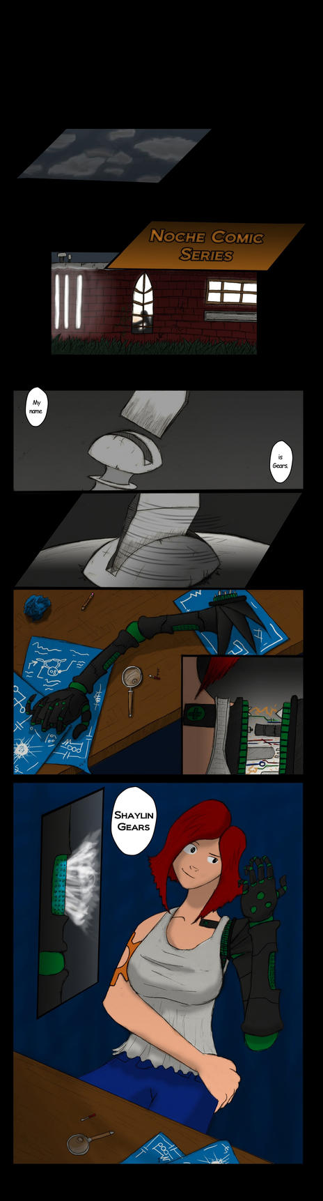 Shaylin Mini comic - page 1 by TheInfamousJoeLinder