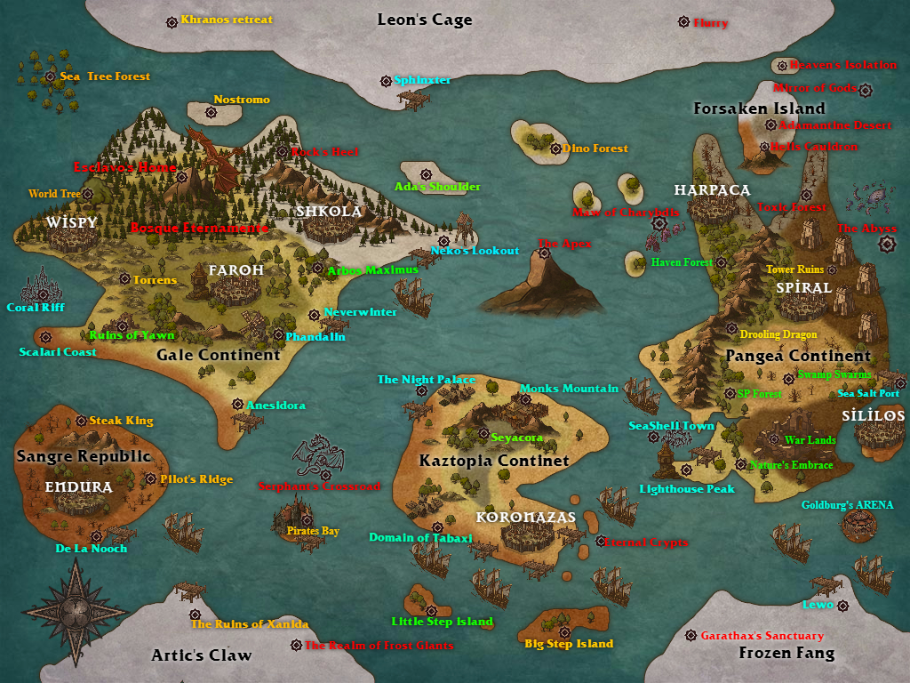 DnD 5e Adventures of Existence WORLD MAP by EpicsofNoche on ...