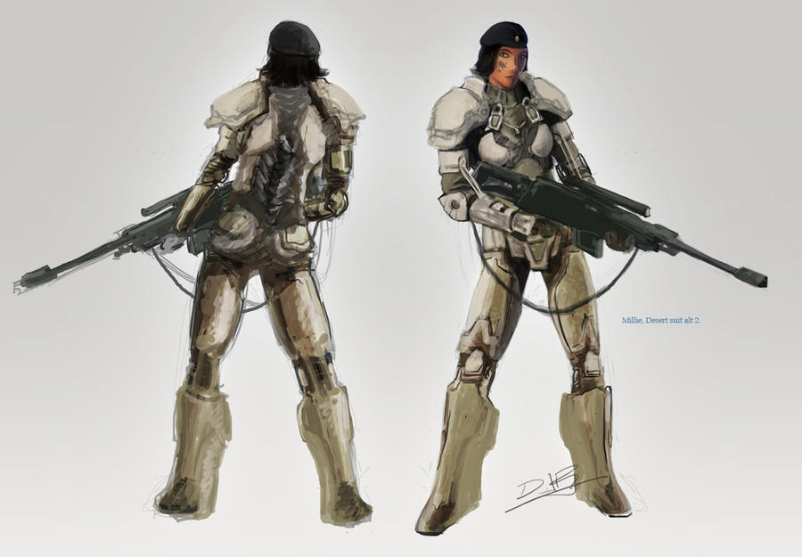 Mille Battle Suit Concept by dannieborg