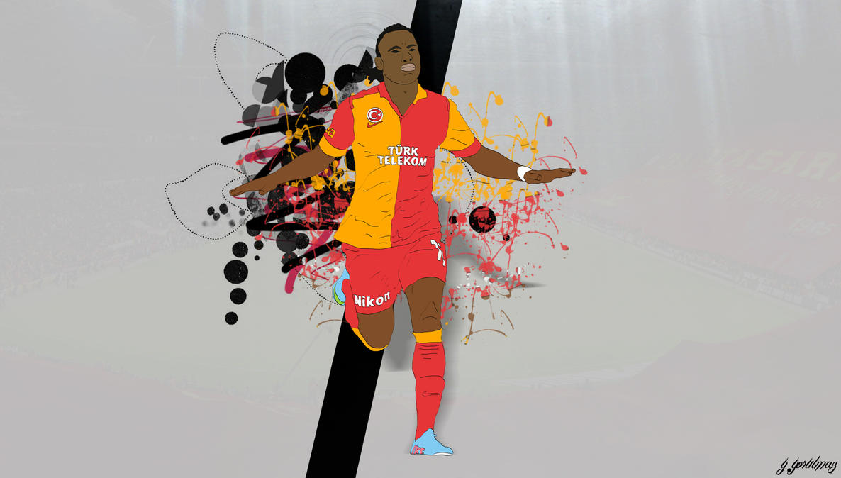 Didier Drogba Cartoon-Wallpaper By Bluezest1997 On DeviantArt