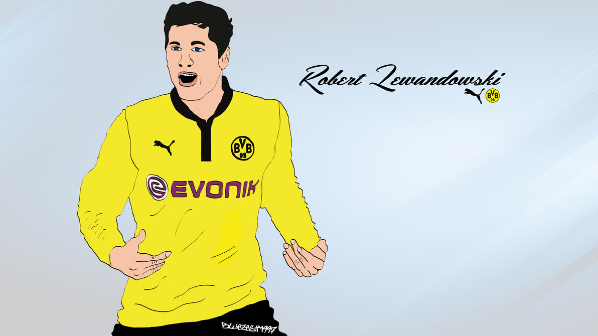 Robert Lewandowski Cartoon By Bluezest1997 On DeviantArt