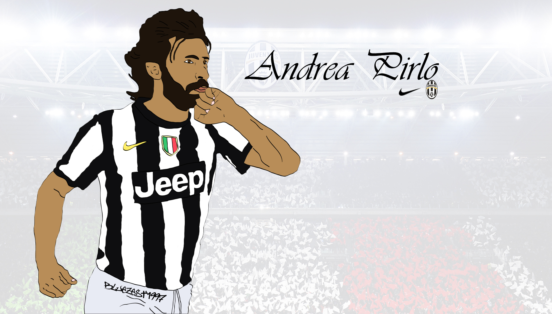 Andrea Pirlo Cartoon By Bluezest1997 On DeviantArt