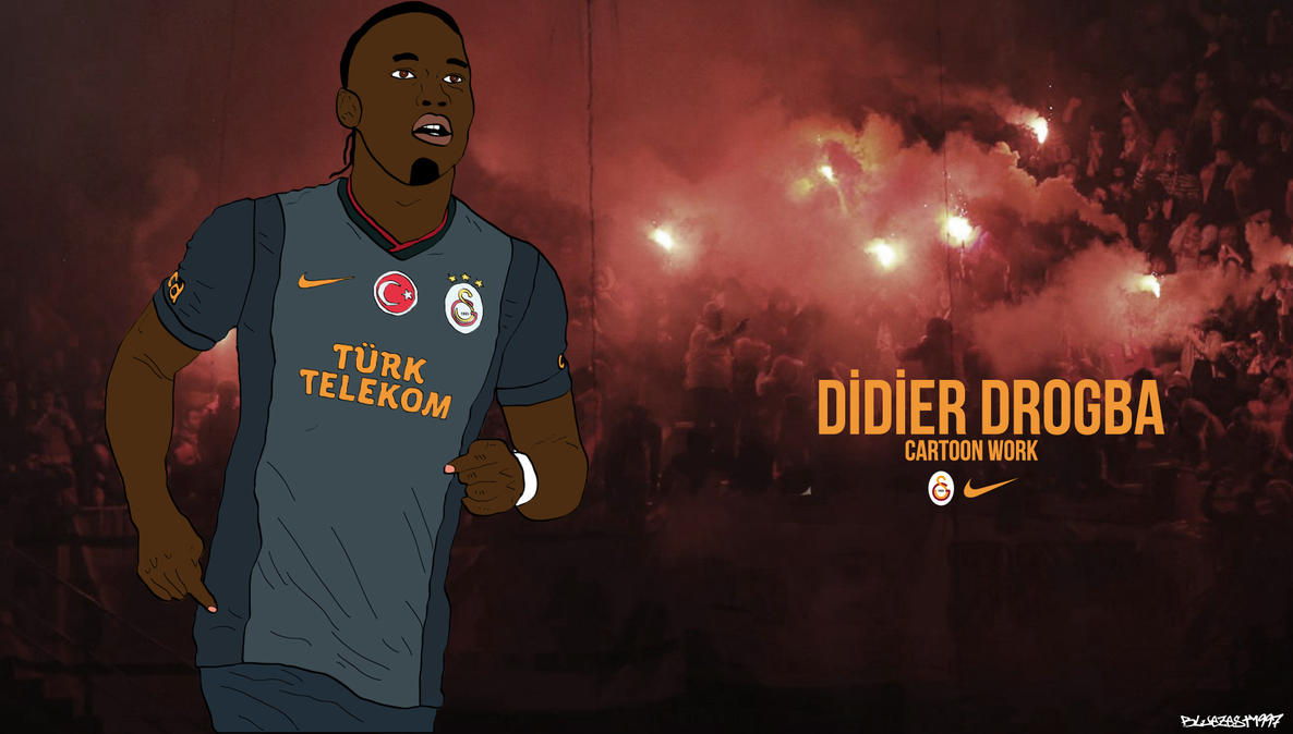 Didier Drogba Cartoon By Bluezest1997 On DeviantArt